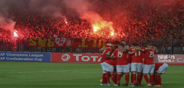 الأهلي يفوز على القطن بثلاثية ويتأهل  وصيفا  لربع نهائي ابطال افريقيا