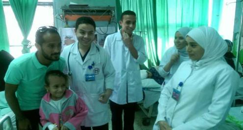 وليد سليمان يدعم مرضى اطفال مستشفى أبوالريش