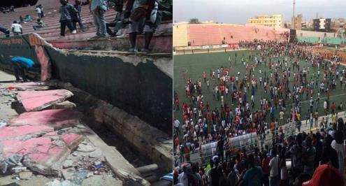 بالفيديو.. كارثة في السنغال.. وفيات واصابات عقب انهيار جدار بملعب نهائي كأس الدوري