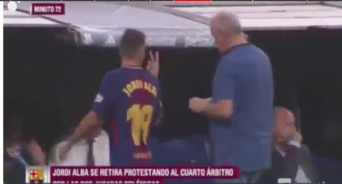 ثنائي ريال مدريد يسخر من جوردي ألبا بعد استبداله في الكلاسيكو