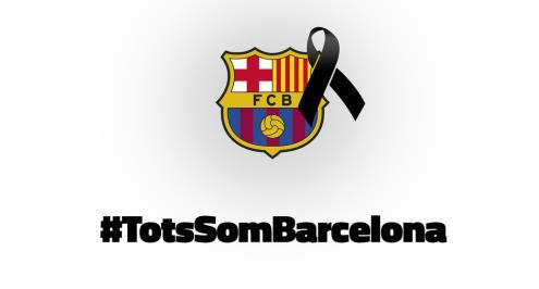 صور.. كيف يتضامن برشلونة مع الحادث الإرهابي في بداية الليجا؟