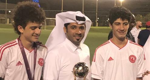 نجلا أبو تريكة يقودان العربي القطري للفوز بكأس الأشبال