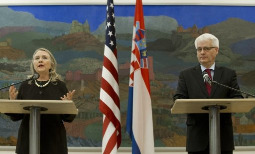 كلينتون تشيد بكرواتيا كنموذج يحتذى في سائر دول البلقان